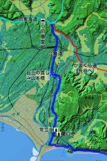 小川泰堂邸と山本橋等の位置関係