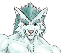 Gペン・マーカー 青緑オオカミ獣人2顔
