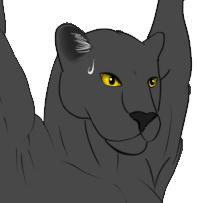 吊るされ黒豹 ベタ塗り顔