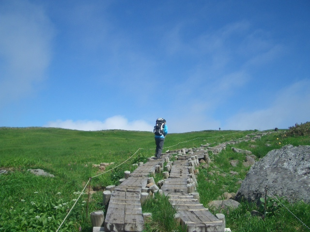 姥が岳山頂手前