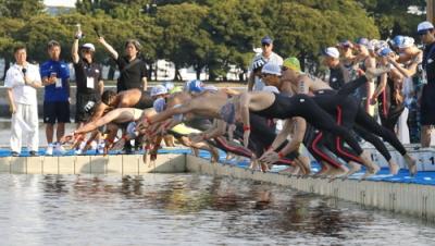 [韓国の反応]「正直臭い。トイレのような臭さ」水泳テスト大会で不安「安倍とその関係者はそこで泳いでみろ」の声