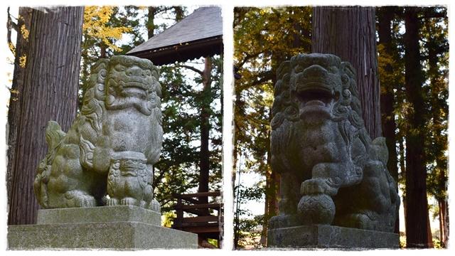 山家神社。狛犬