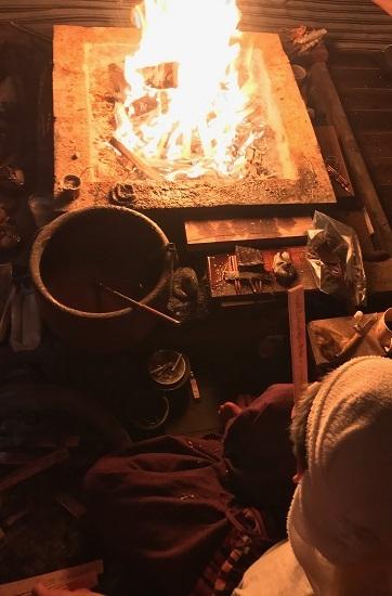 2019年9月ご神木プージャの炎
