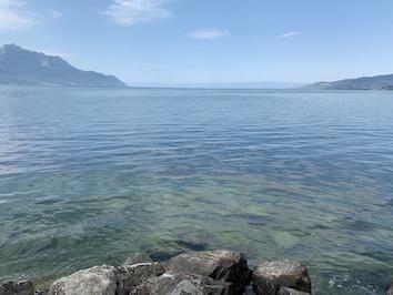 レマン湖の眺め