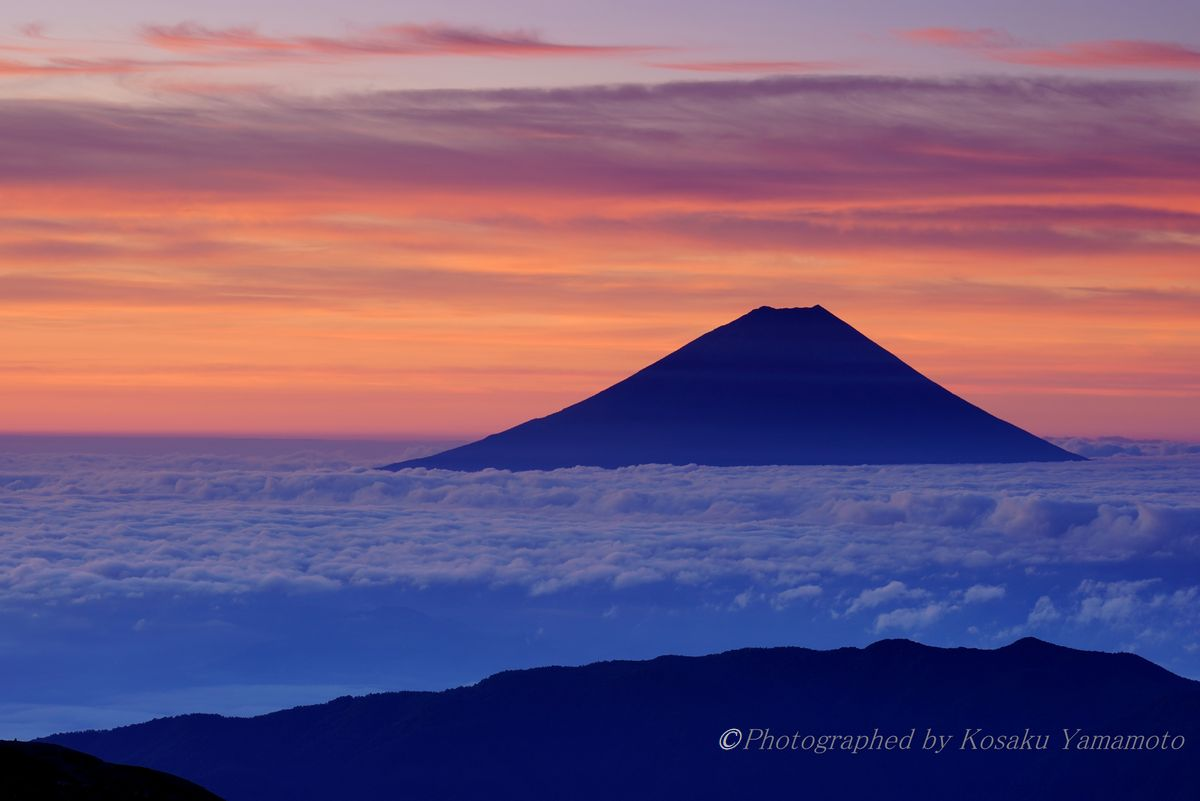3000mの夜明け (北岳)