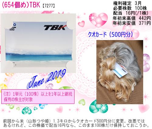 (654) 2019年06月到着TBK