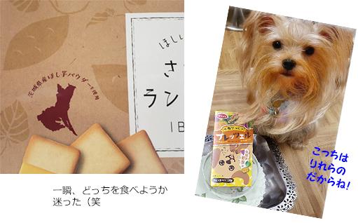 2019年07月26日kanaさんからおやつとお菓子(さつまいものラングドシャー)をいただきました (1)