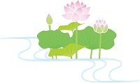 蓮の花 お盆 - コピー