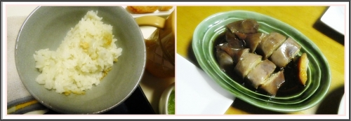 アワビご飯&イカ飯