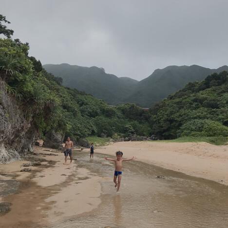 石垣島 川遊び