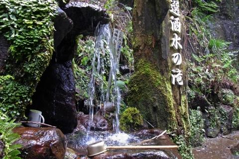 洒水の滝の湧き水