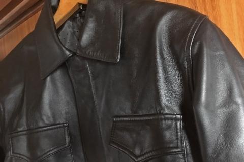 ebayでインドから購入した革ジャケット