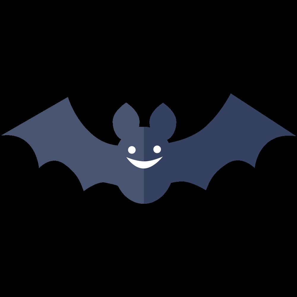 シンプルでかわいいハロウィンのコウモリのイラスト