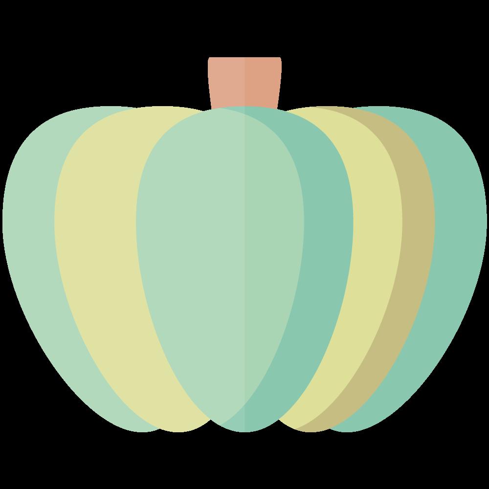 シンプルでかわいいかぼちゃのイラスト