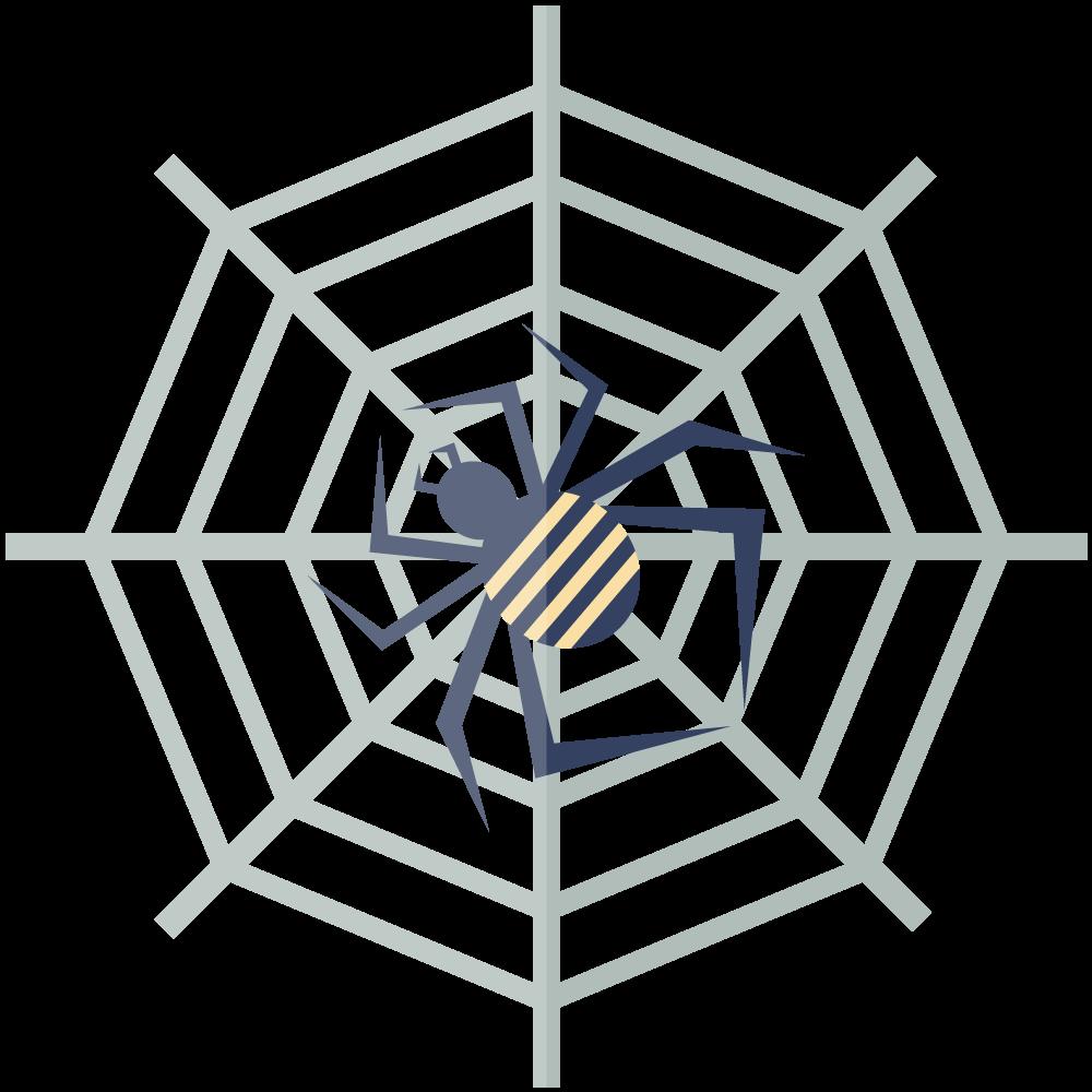 シンプルでかわいい蜘蛛のイラスト