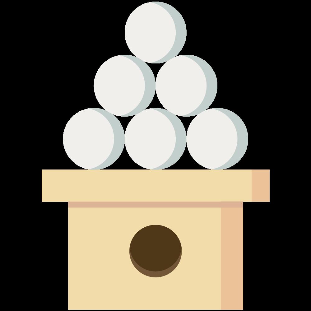 シンプルでフラットな月見団子のイラスト