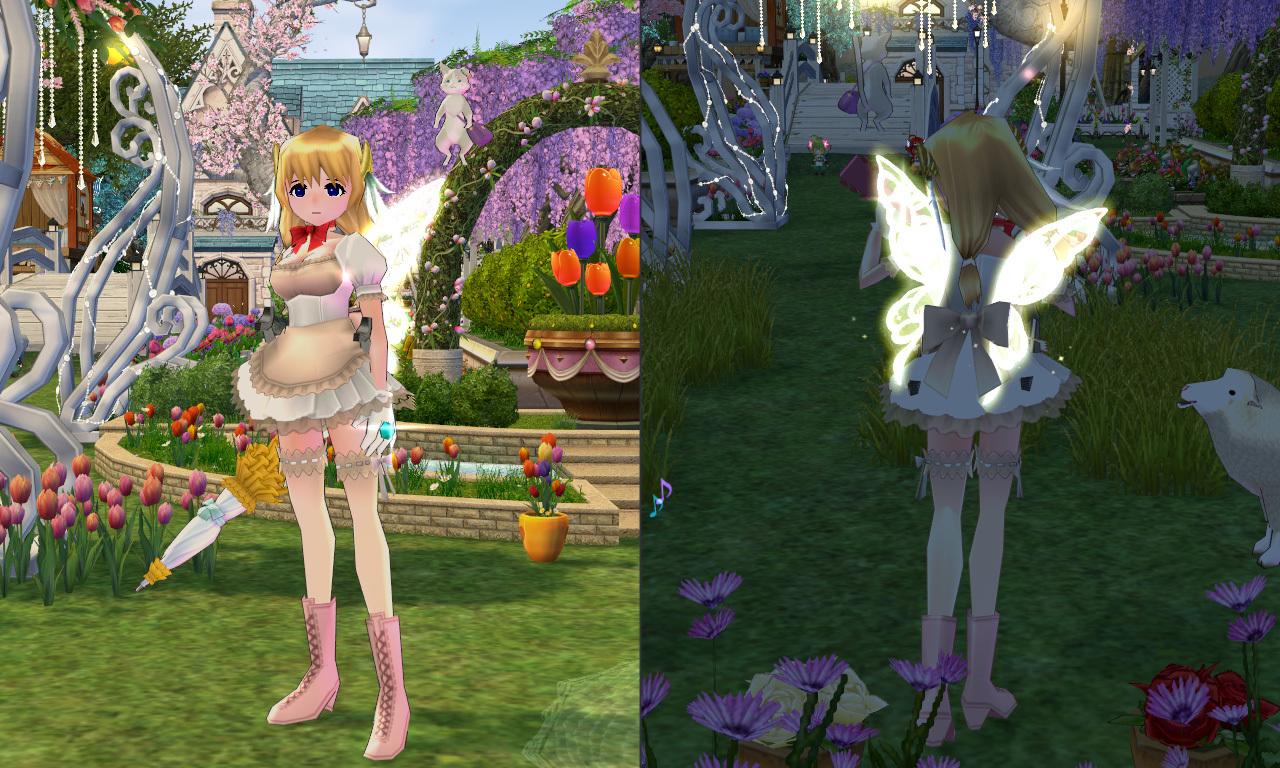 妖精フローラのイエローウィング1