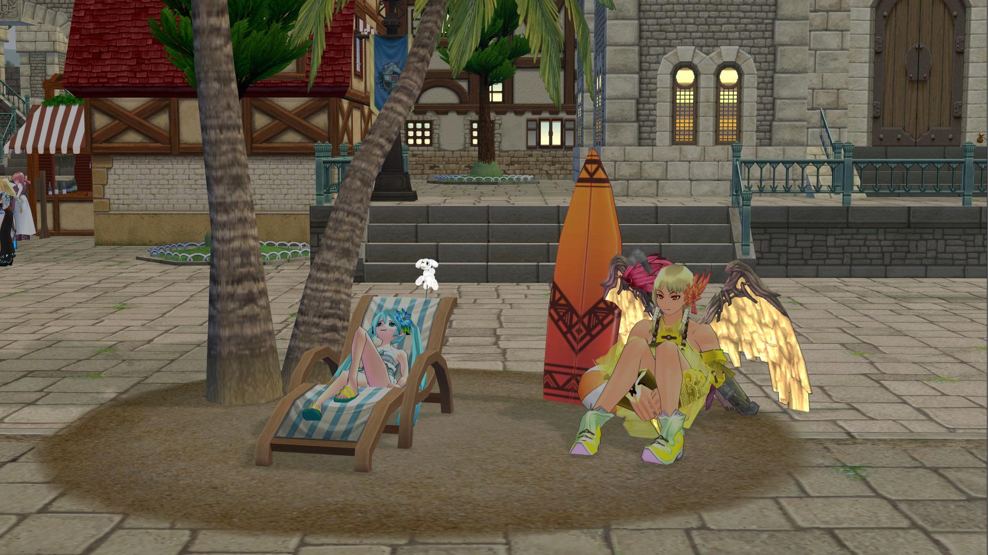 海辺のサンベットとサーフボード3