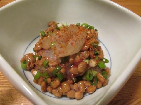 アカハタの八味納豆和え1