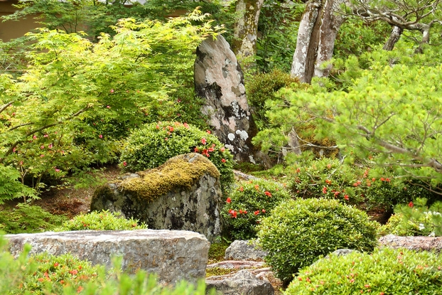 曼殊院庭園・南部築山の立石