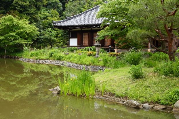 浄瑠璃寺庭園・洲浜