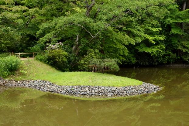 浄瑠璃寺庭園・東部出島