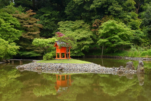 浄瑠璃寺庭園・中島