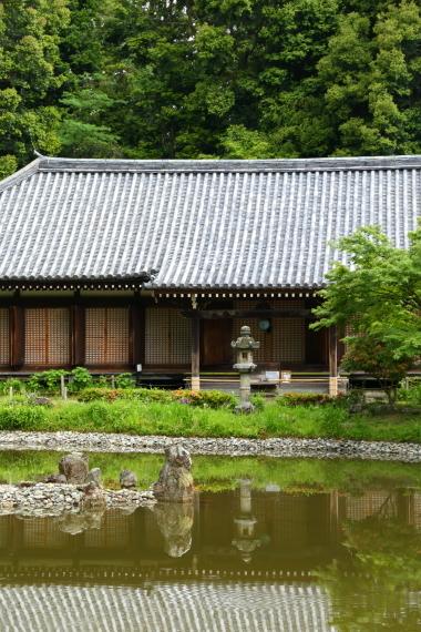 浄瑠璃寺庭園・本堂と池泉