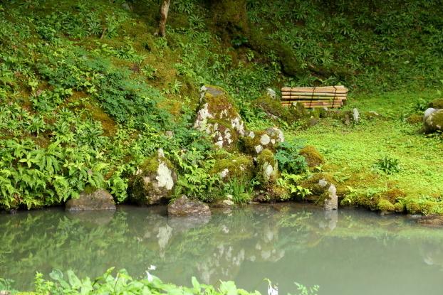 孤篷庵庭園・池泉部分石組