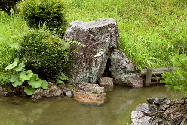 浄信寺庭園・護岸石組