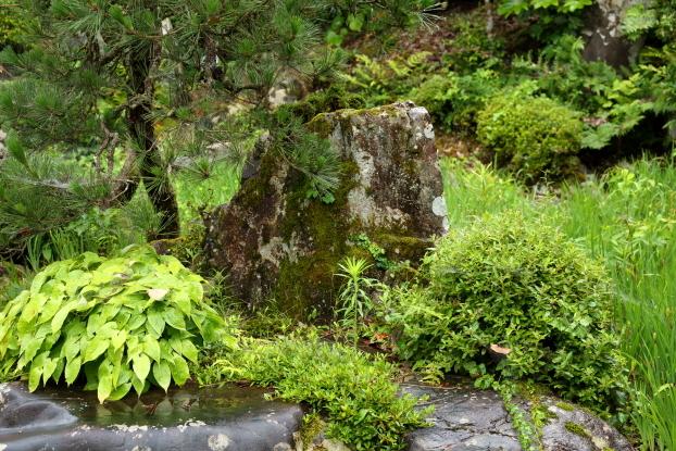 池氏庭園・亀島中心石