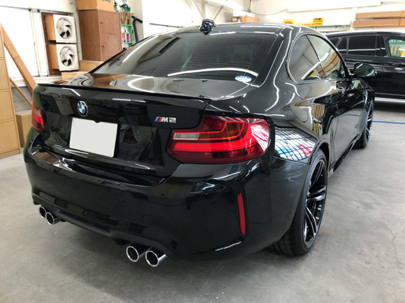 BMW M2@スーパープラチナガラスコート(リヤ)