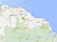 ギアナ3国の地図