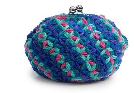 リフ編みプーリングがま口