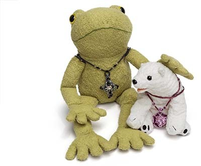 ペンダント白熊蛙