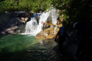 二段20mの滝