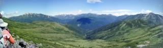 赤木沢-太郎山手前から薬師岳方面パノラマ