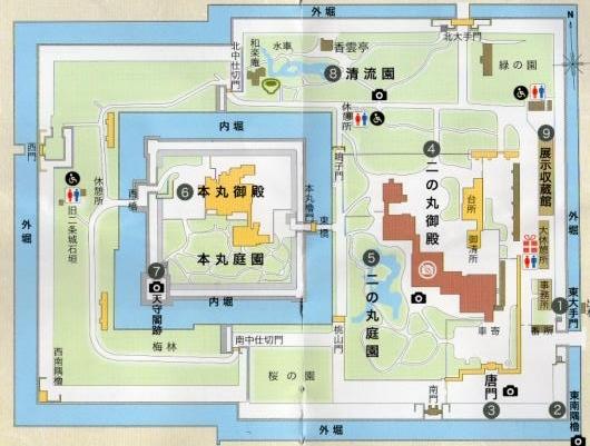 二条城配置図(1)