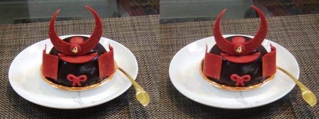 赤備えケーキ(交差法)