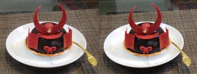 赤備えケーキ(平行法)
