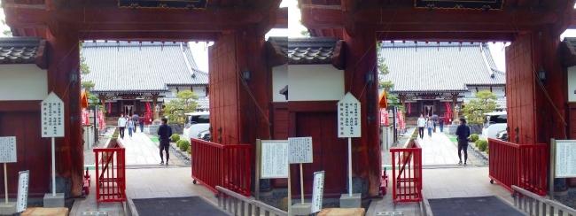 夢京橋キャッスルロード 宗安寺 赤門(平行法)