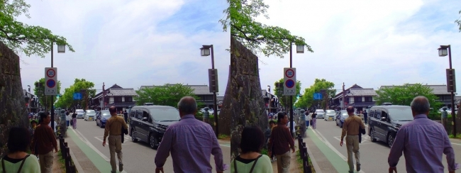 彦根城 京橋①(平行法)