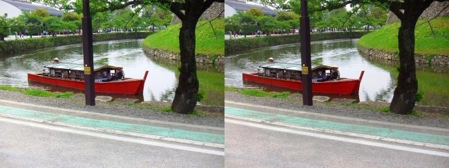 彦根城 内濠 屋形船(交差法)