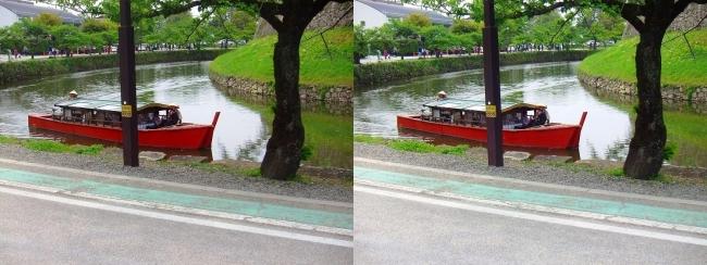 彦根城 内濠 屋形船(平行法)