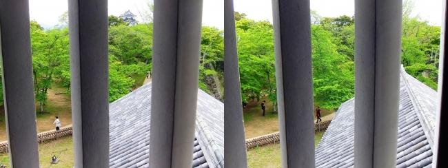 彦根城 西の丸三重櫓からの景観⑤(平行法)