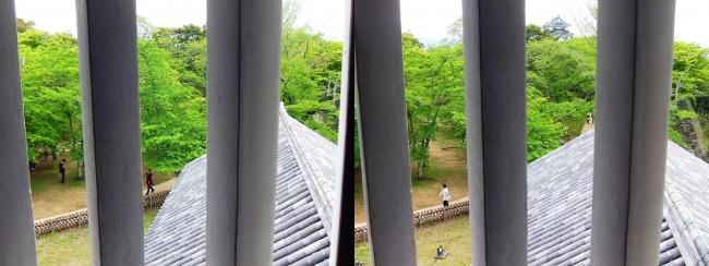 彦根城 西の丸三重櫓からの景観⑤(交差法)