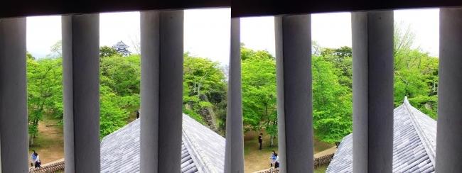 彦根城 西の丸三重櫓からの景観④(平行法)