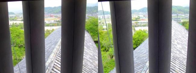 彦根城 西の丸三重櫓からの景観③(平行法)