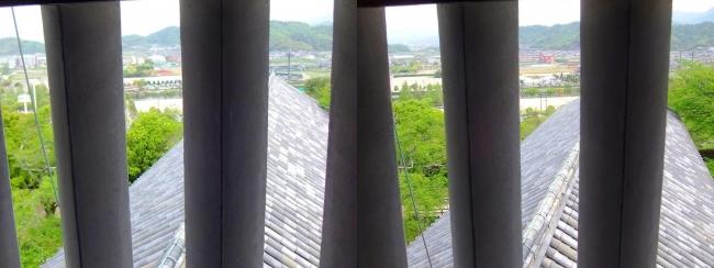 彦根城 西の丸三重櫓からの景観③(交差法)
