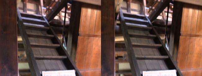 彦根城 西の丸三重櫓 階段(平行法)